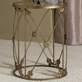 Dalton Home Collection Large Barrel Table with Arrows and Removable Glass Top