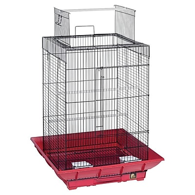 Prevue Hendryx Clean Life PlayTop Bird Cage; Red / Black WYF078276461259