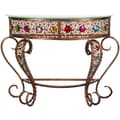 Oriental Furniture Bejeweled Crescent End Table