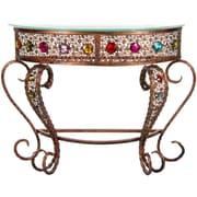 Oriental Furniture Bejeweled Crescent End Table