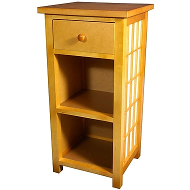 Oriental Furniture Shoji End Table; Honey