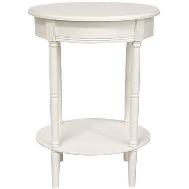 Oriental Furniture Classic End Table; White