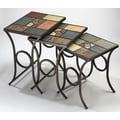 Hillsdale Pompei Slate 3 Piece Nesting Tables