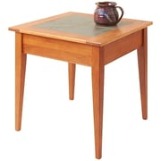 Manchester Wood Slate Top End Table; Golden Oak