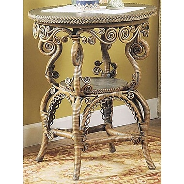 Yesteryear End Table; Brownwash