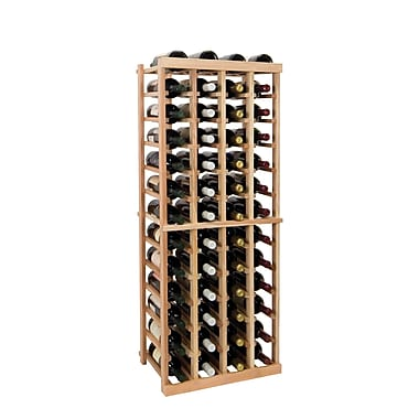 Wine Cellar Vintner Series 52 Bottle Floor Wine Rack; Unfinished