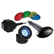 Alpine 12 Super White LED Pond Light, Photo Cell, Stake and 4-Colored Lenses