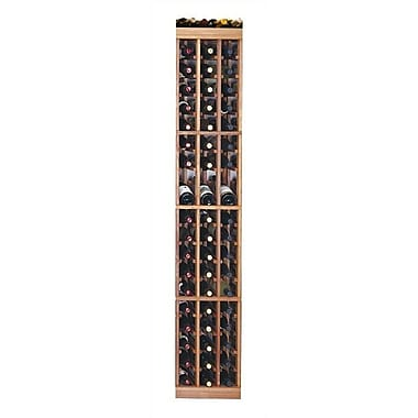 Wine Cellar Designer Series 57 Bottle Floor Wine Rack; Classic Stained Premium Redwood