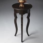 Butler Loft End Table; Distressed Rubbed Black