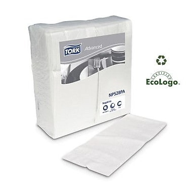 TORK (2800 per Carton) Advanced Dinner 2-Ply White Napkins