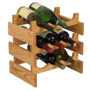 Wooden Mallet Dakota 9 Bottle Tabletop Wine Rack; Light Oak