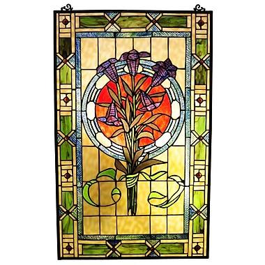 Chloe Lighting Tiffany Tulips Window Panel