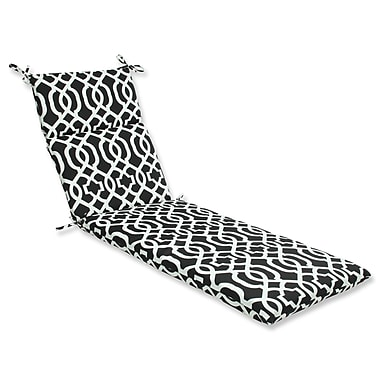 Pillow Perfect New Geo Outdoor Chaise Lounge Cushion; Black / White