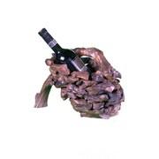 Groovystuff Drifter Wine Basket 1 Bottle Tabletop Wine Rack