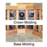 Wine Cellar Designer Series Curved Molding; Classic Stained Premium Redwood
