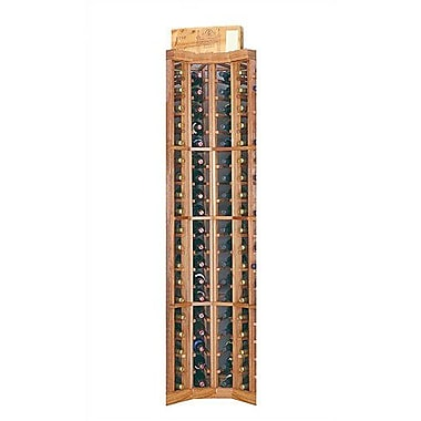 Wine Cellar Designer Series 74 Bottle Floor Wine Rack; Unstained Premium Redwood