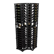 Wine Cellar Designer Series 72 Bottle Floor Wine Rack; Midnight Black Stained Premium Redwood