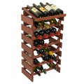 Wooden Mallet Dakota 28 Bottle Wine Rack; Mahogany