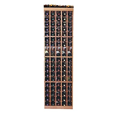 Wine Cellar Designer Series 95 Bottle Floor Wine Rack; Midnight Black Stained Premium Redwood