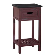 Gallerie Decor Shoreham End Table; Red