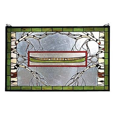 Meyda Tiffany North Country Canoe Stained Glass Window