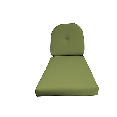 Fiberbuilt Outdoor Chaise Lounge Cushion; Green