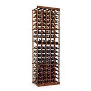 Wine Enthusiast Companies N'finity 90 Bottle Floor Wine Rack; Dark Walnut