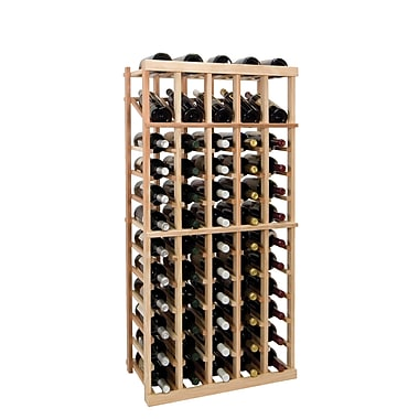Wine Cellar Vintner Series 60 Bottle Floor Wine Rack; Dark Walnut