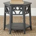 Safavieh Connor Hexagon End Table; Charcoal Grey