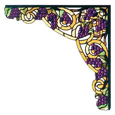 Meyda Tiffany Tiffany Jeweled Grape Corner Bracket