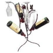 Metrotex Designs Stem Tree 3 Bottle Tabletop Wine Rack; Merlot