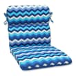 Pillow Perfect Panama Wave Chair Cushion; Azure