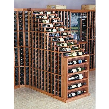 Wine Cellar Designer Series 270 Bottle Floor Wine Rack; Unstained Premium Redwood