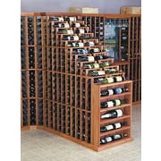 Wine Cellar Designer Series 270 Bottle Floor Wine Rack; Unstained Premium Redwood