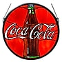 Meyda Tiffany Tiffany Coca-Cola Button Medallion Stained Glass