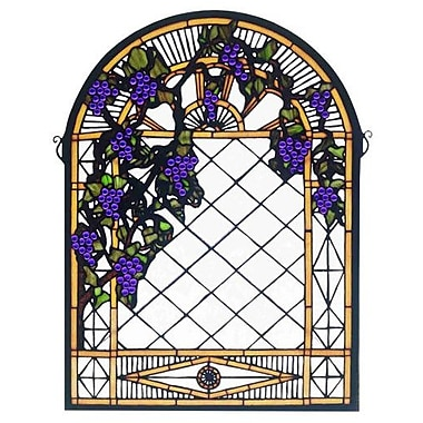 Meyda Tiffany Grape Diamond Trellis Stained Glass Window
