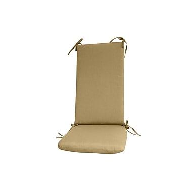 Fiberbuilt Outdoor Rocking Chair Cushion; Beige
