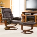 Wildon Home   Shaw Ergonomic Recliner and Ottoman; Cafe Brown