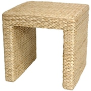 Oriental Furniture Rush Grass End Table; Natural
