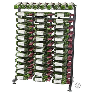 VintageView IDR Series 234 Bottle Floor Wine Rack; Black