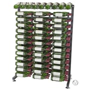 VintageView IDR Series 234 Bottle Floor Wine Rack; Black