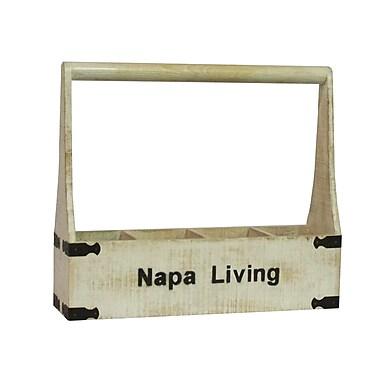 Antique Revival Napa Living 4 Bottle Tabletop Wine Rack