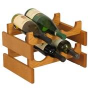 Wooden Mallet Dakota 6 Bottle Wine Rack; Medium Oak