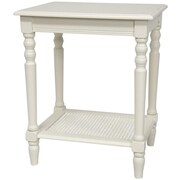 Oriental Furniture End Table; White