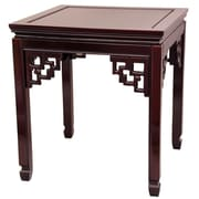 Oriental Furniture Ming End Table; Rosewood