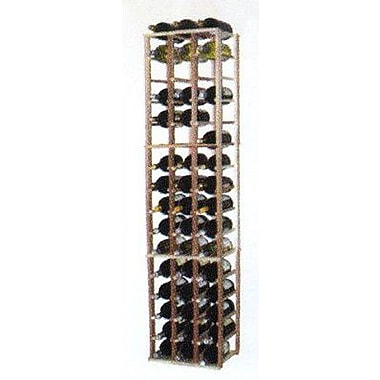 Wine Cellar Designer Series 48 Bottle Floor Wine Rack; Midnight Black Stained Premium Redwood