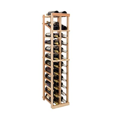 Wine Cellar Vintner Series 24 Bottle Floor Wine Rack; Dark Walnut