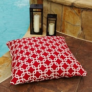 Mozaic Company Stella Outdoor/Indoor Floor Pillow; Knotted Red