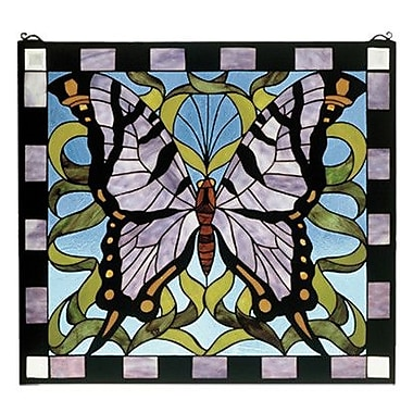 Meyda Tiffany Butterfly Stained Glass Window