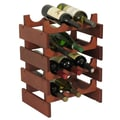 Wooden Mallet Dakota 12 Bottle Wine Rack; Mahogany